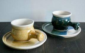 Kaffibolli og diskur